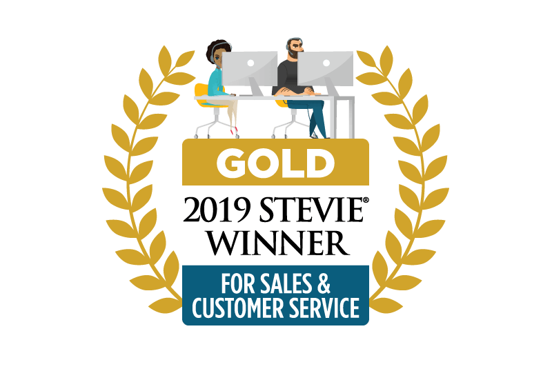 Stevie 2019 - Gold Winner for Sales & Customer Service
