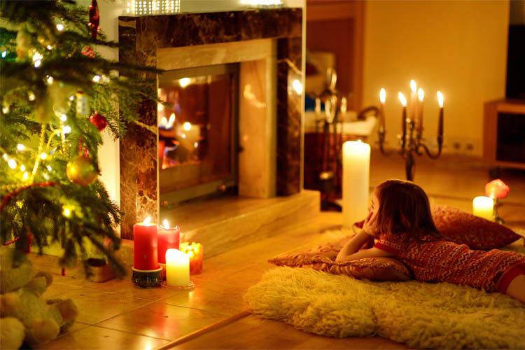 Girl Keeping Christmas Alive Waiting for Santa