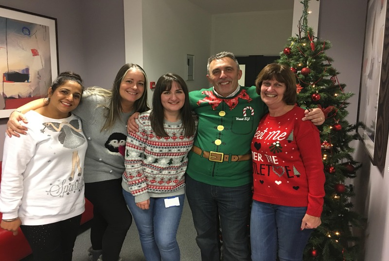 Shepherds Friendly staff celebrate Christmas Jumper Day