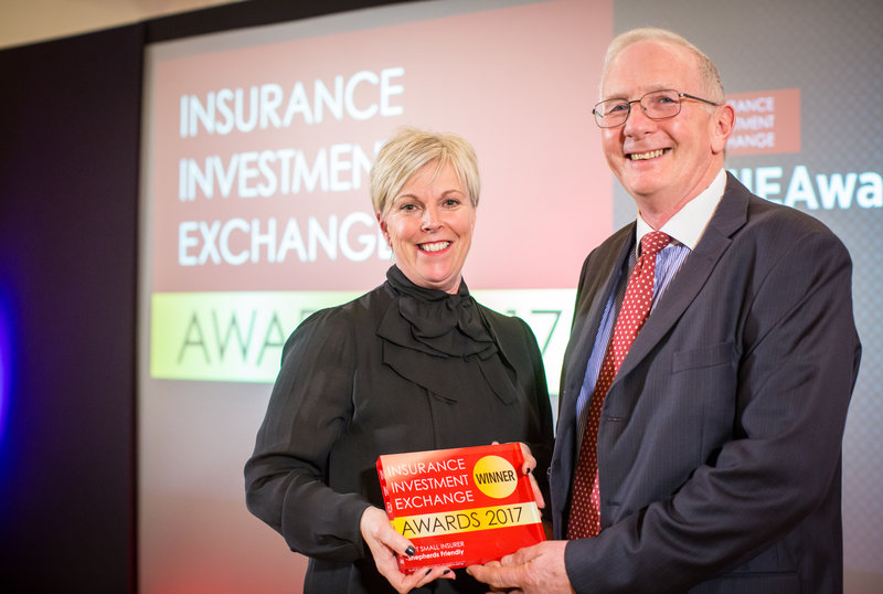 We win 'Best Small Insurer' award at industry awards event