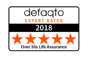 We receive a 5 Star Rating from Defaqto for our Over 50s Life Insurance